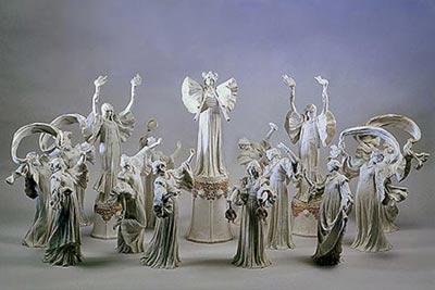 Agathon Léonard van Weydenfeld-Decorazione da tavola 'La danse de l'écharpe' (The Scarf Dance)- porcellana di Sèvres, Francia- 1900- altezza delle figure c. 40-50 cm. Courtesy of the Hermitage Amsterdam.