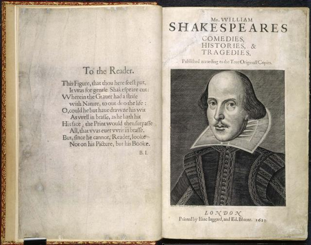 shakespeare Fisrt Folio 1623 British Library