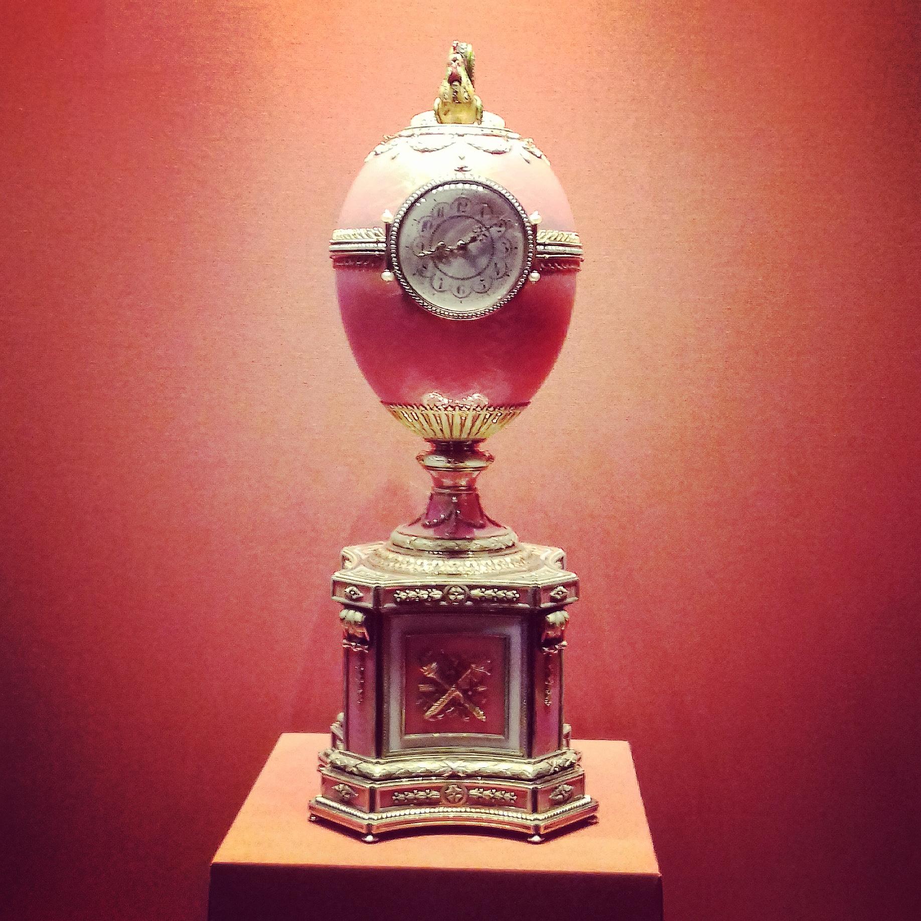 The Rothschild Faberge clock egg, Hermitage Museum, St Petersburg. 2018 © Paola Cacciari