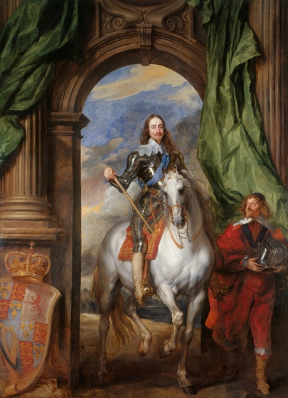Anthony van Dyck Charles I with M de St Antoine (1633)