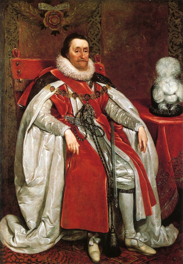 James I of England 1621 by Daniel Mytens