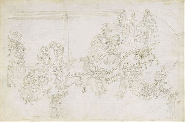 Sandro Botticelli, Drawings for Dante´s Divine Comedy (Purgatorio 31) (1480 - 1495)