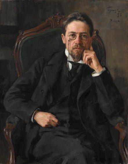 Anton Chekhov, 1898 by Iosif Braz. Photograph © State Tretyakov Gallery, Moscow