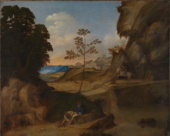 Giorgione Il Tramonto (The Sunset) 1506–10. Photograph The National Gallery, London