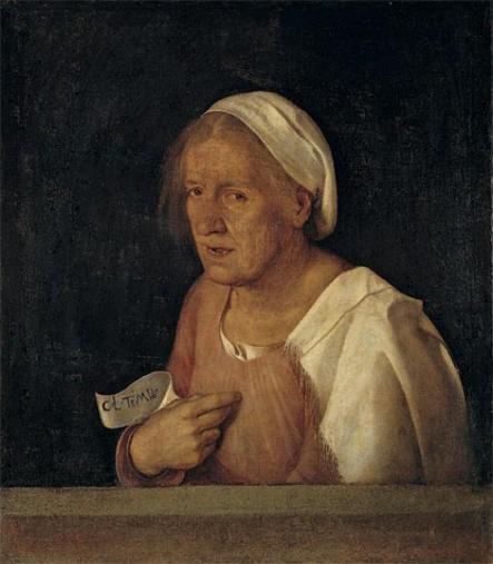 Giorgione, La Vecchia, 1506 Gallerie dell'Accademia Venezia
