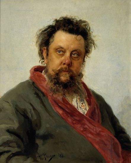 Modest Mussorgsky, 1881 by Ilya Repin Photograph © State Tretyakov Gallery, Moscow