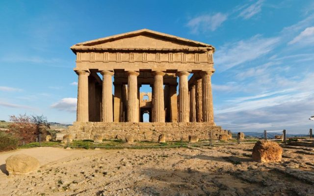 Concordia temple in Agrigento, Sicily