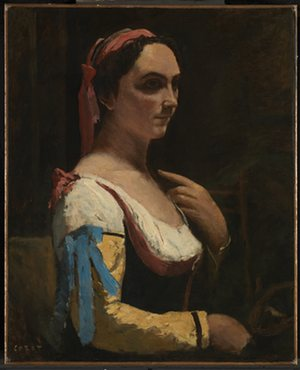 Italian Woman, or Woman with Yellow Sleeve, by Jean-Baptiste-Camille Corot. Photograph: The National Gallery
