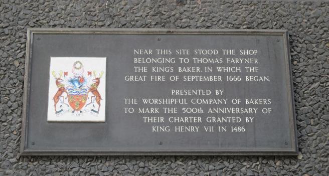 Plaque in Pudding Lane commemorating the Greta Fire of 1666. London, 2016 © Paola Cacciari