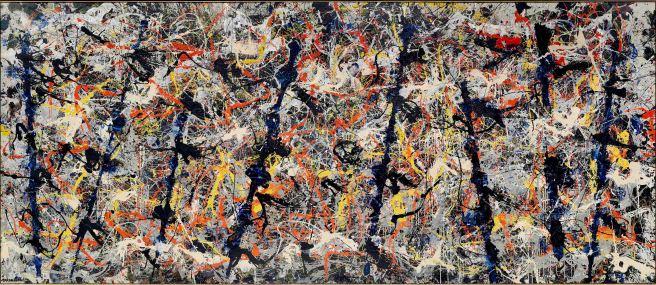 Jackson Pollock, Blue poles, 1952. National Gallery of Australia, Canberra