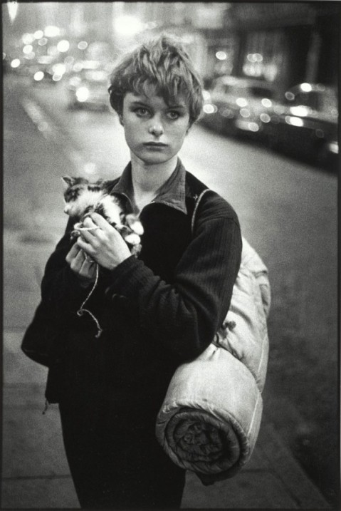 bruce-davidson-london-1960-girl-holding-kitten