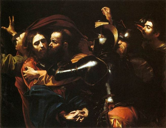 Caravaggio, Cattura di Cristo, 1598. Dublino, National Gallery of Ireland.
