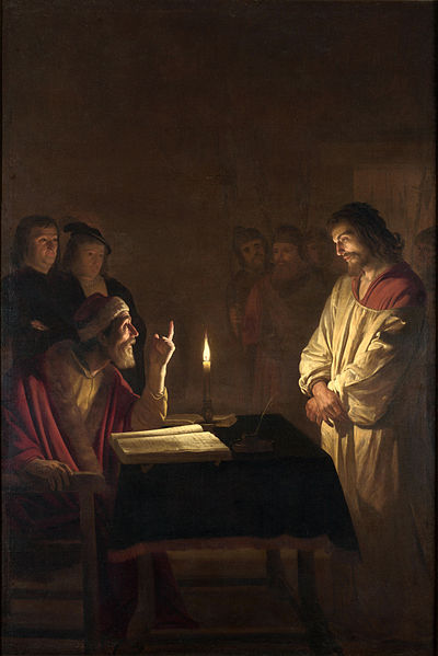Gerrit van Honthorst, 'Christ before the High Priest', about 1617