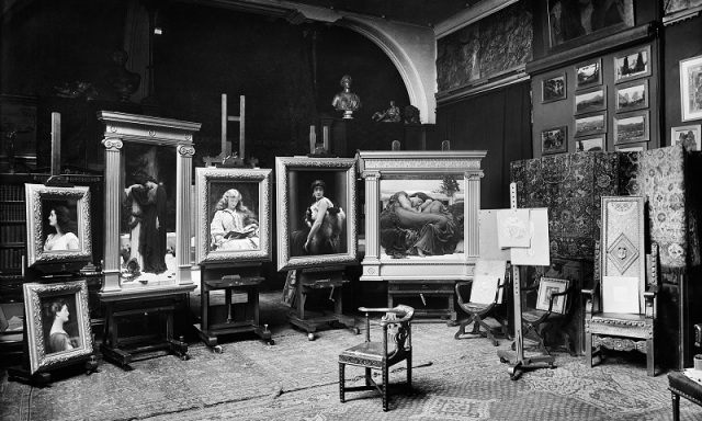 Frederic Leighton gave friends and guests a preview of his paintings for the Royal Academy summer exhibition in April 1895 (Image: Bedford Lemere © Historic England Archive) The line-up reunited in Flaming June: The Making of an Icon at Leighton House Museum until 2 April 2017. (Image: Kevin Moran. Courtesy: Leighton House Museum)