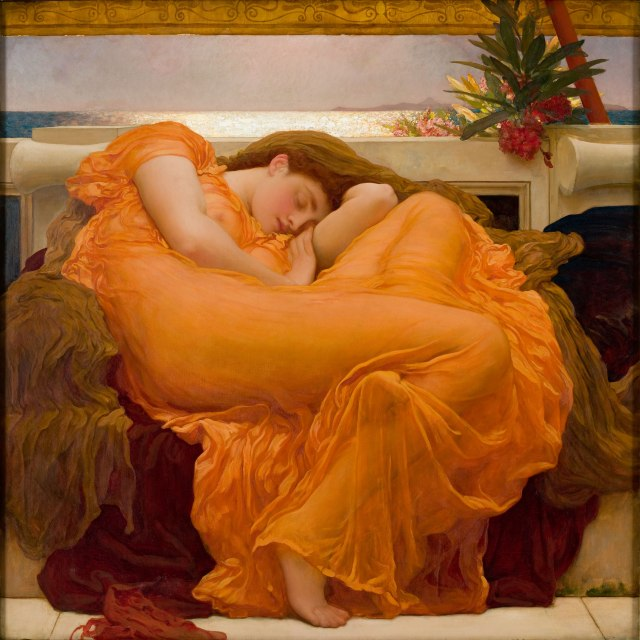 Frederic Lord Leighton Flaming June (1895) Museo de Arte de Ponce