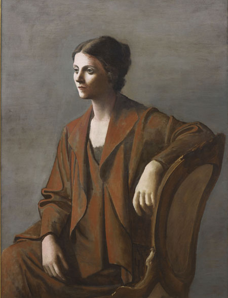 Portrait of Olga Picasso by Pablo Picasso, 1923. Photograph Succession PicassoDACS London