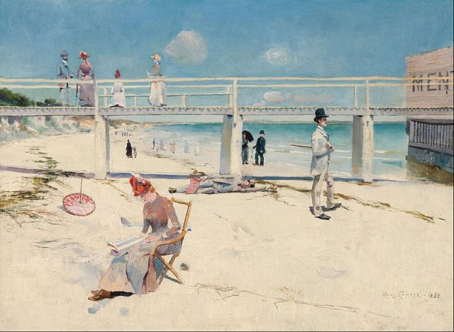 A Holiday at Mentone, 1888, by Charles Conder Art Gallery of South Australia, Adelaide