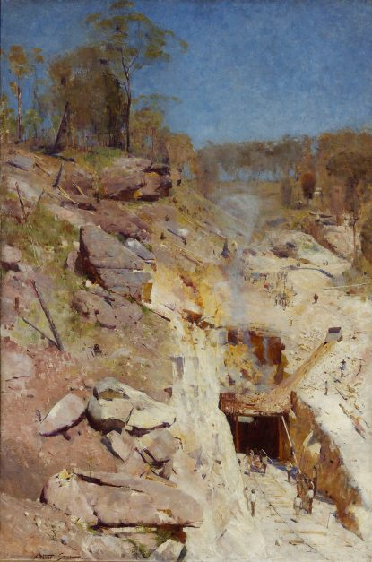 Arthur Streeton Fire's On, 1891. Photograph: © Art Gallery of New South Wales