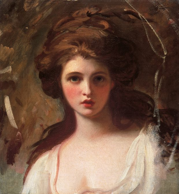 Emma Hart as Circe, around 1782, by George Romney. Photograph Tate