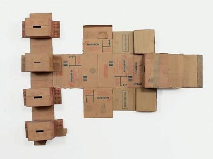 Robert Rauschenberg, Nabisco Shredded Wheat (Cardboard), 1971 image courtesy of Gagosian Gallery.