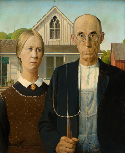 Grant Wood, American Gothic, 1930. Friends of American Art Collection 1930.934, The Art Institute of Chicago.