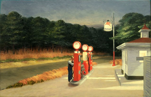 Edward Hopper, Gas, 1940. Museum of Modern Art , New York. Mrs. Simon Guggenheim Fund, 1943 Photo © 2016. Digital image, The Museum of Modern Art, New York/Scala, Florence.