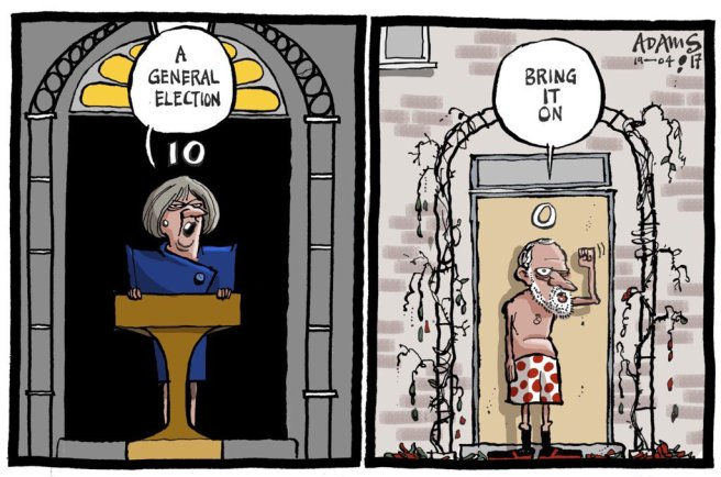 Theresa May calls snap general election by Christian Adams - political cartoon gallery.jpg