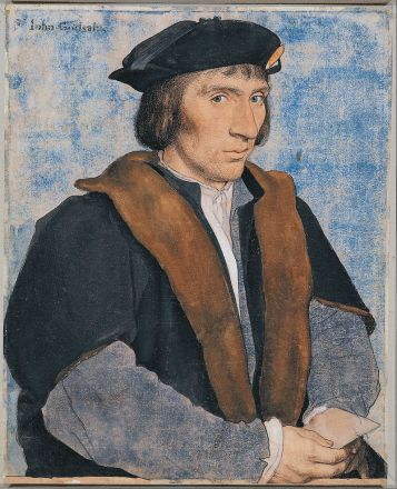 Fresh face: Hans Holbein the Younger's likeness of Sir John Godsalve Credit: The Royal Collection; Andrew Crowley; The Samuel Courtauld Trust