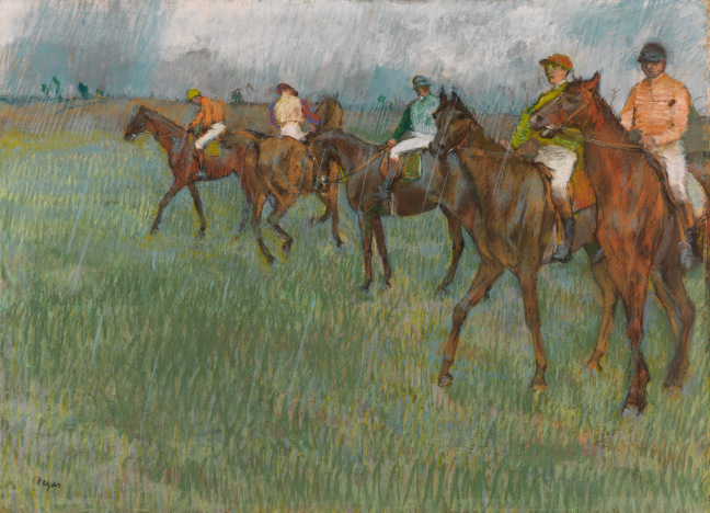 Jockeys in the Rain (1883-6) by Hilaire-Germain-Edgar Degas. © CSG CIC Glasgow Museums Collection
