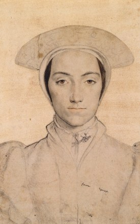 Woman Wearing a White Headdress: Hans Holbein the Younger c.1532-43