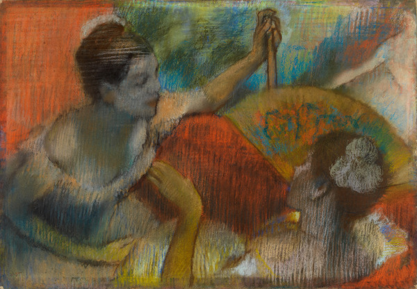 Women in a Theatre Box (1885-90) by Hilaire-Germain-Edgar Degas. Pastel on paper © CSG CIC Glasgow Museums Collection