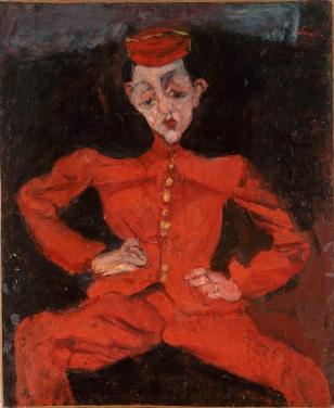 Chaim Soutine, Bellboy, c1925, oil on canvas Centre Georges Pompidou, Paris, Musee national d art moderne Centre de creation industrielle