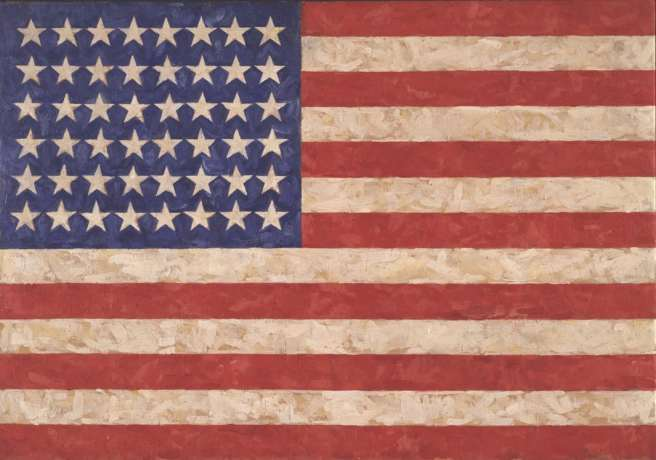 Flag, 1958 (encaustic on canvas) Photograph: Jamie Stukenberg/© Jasper Johns / VAGA, New York / DACS, London 2017