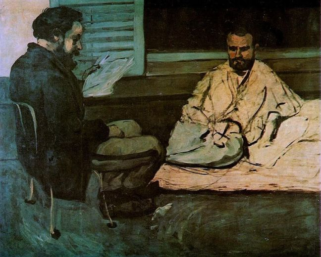 Paul Alexis Reading to Émile Zola (detail), c.1869-70 Photo: Museu de Arte de Sao Paulo Assis Chateaubriand