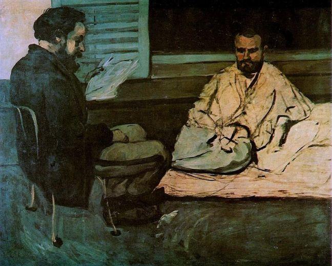 Paul Alexis Reading to Émile Zola (detail), c.1869-70 Photo: Museu de Arte de Sao Paulo Assis Chateaubriand