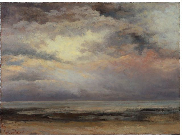 Gustave Courbet (1819-1877) L'Immensité, 1869 France. Victoria and Albert Museum Bequeathed by Constantine Alexander Ionides