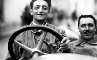 Enzo Ferrari at the Targa Florio in 1920. The car is an Alfa Romeo 40-60 HP Racing Type