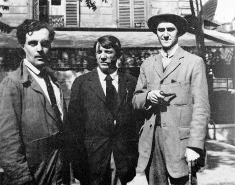 Modigliani, Pablo Picasso and André Salmon, 1916