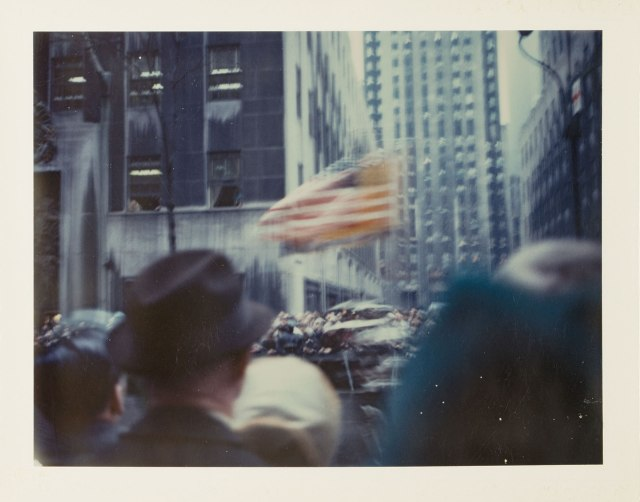 'They are a healthy memory of how things were –New York Parade, 1972. Photograph: © Wim Wenders/Courtesy the Wim Wenders Foundation