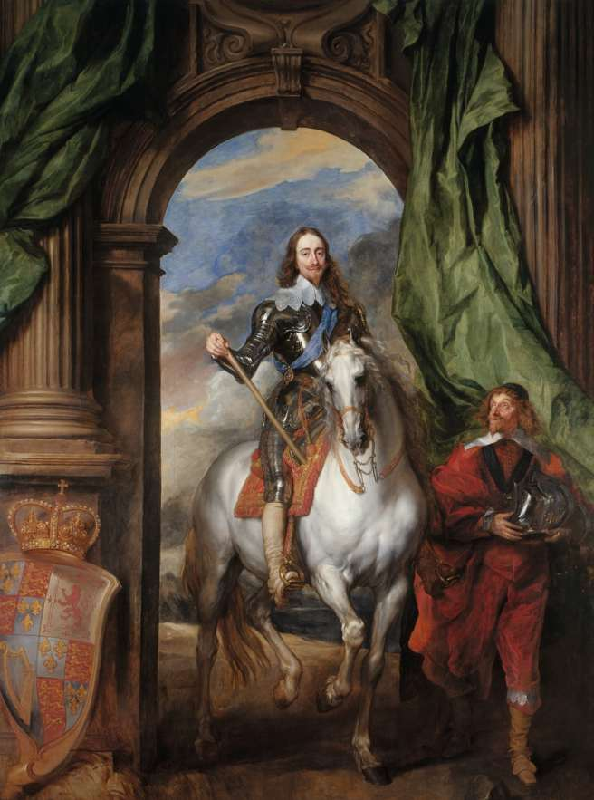 Charles I on Horseback with M. de St Antoine, 1633, by Van Dyck. Photograph Royal Collection Trust © Her Majesty Queen Elizabeth II 2018