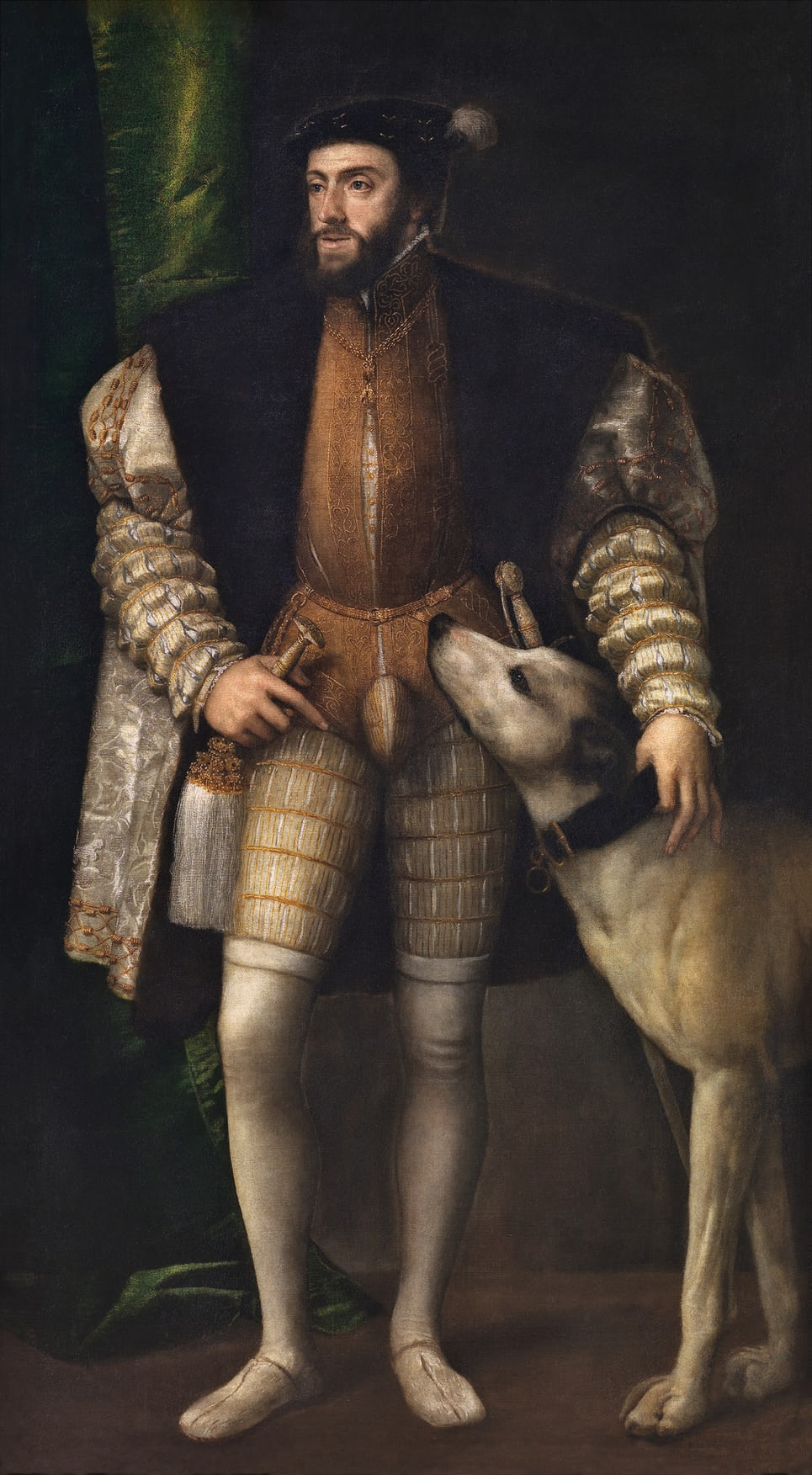 Charles V with a Dog, 1533 by Titian. Photograph Museo Nacional del Prado
