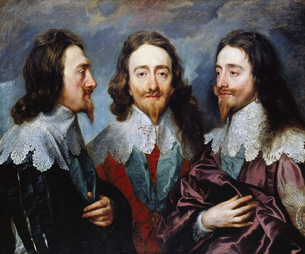 Van Dyck's Triptych portrait of King Charles I of England. Photograph Universal History Archive UIG via Getty Images