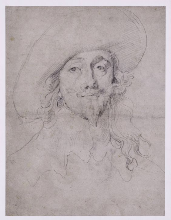 Anthony van Dyck Portrait study of Charles I (drawing) Amsterdam, Rijksmuseum