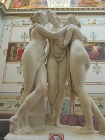 The Three Graces by Antonio Canova 1813-1816. State Hermitage Museum, St Petersburg. 2018 © Paola Cacciari