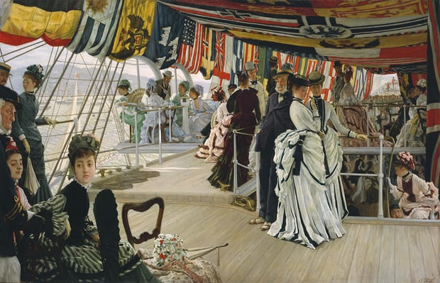 The Ball on Shipboard, circa 1874, by James Tissot. Photograph: Tate