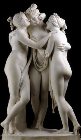 The Three Graces by Antonio Canova Rome, 1814-1817, © Victoria and Albert Museum, London