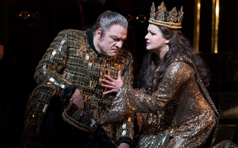 Anna Netrebko and Zeljko Lucic star as the scheming Macbeths. Royal Opera House 2018. Credit: Alistair Muir