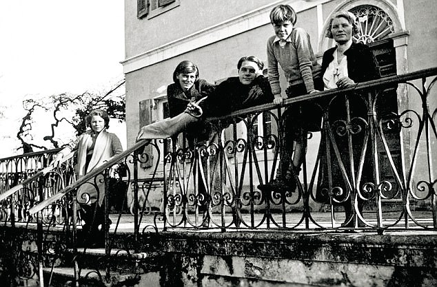 The Durrells in Corfu in the Thirties (from left) Margaret, Nancy, Lawrence