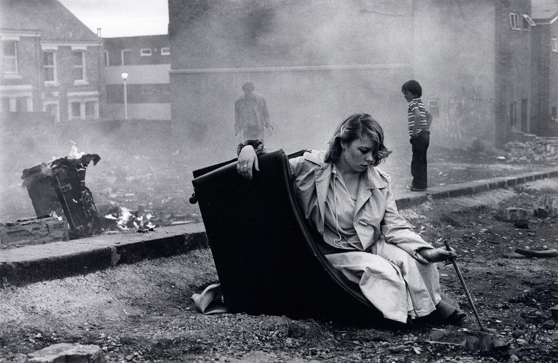 Karen on overturned chair, 1980. Photograph: Tish Murtha/© Ella Murtha, All rights reserved.© Ella Murtha