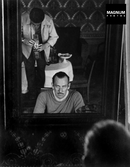 USSR. Moscow. August-September, 1947. Robert Capa and John Steinbeck.